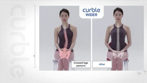 Curble Wider - Posture Before and After