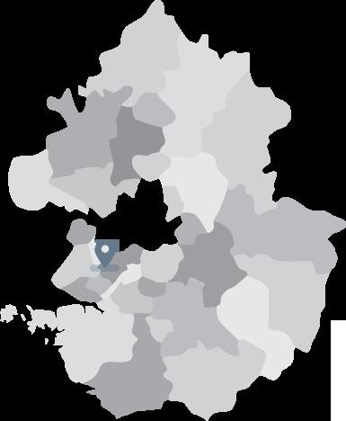에이블루 본사 물류창고 지도